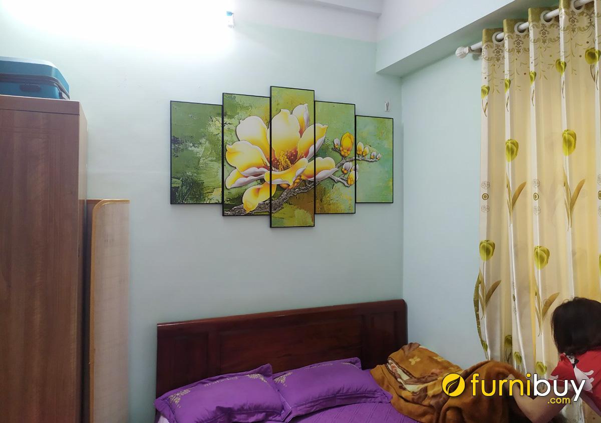 Hình ảnh Bộ tranh hoa mộc lan treo tường phòng ngủ đẹp
