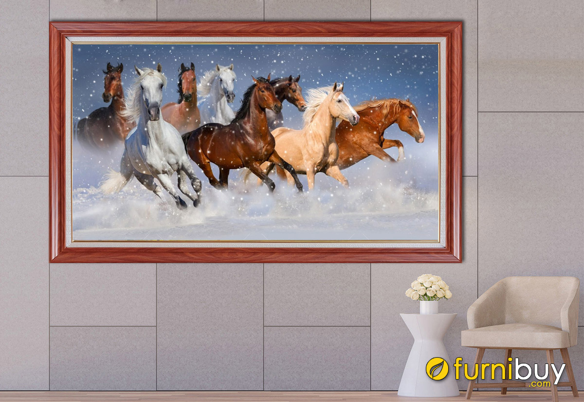 Hình ảnh Bức tranh mã đáo thành công 1 tấm treo tường đẹp