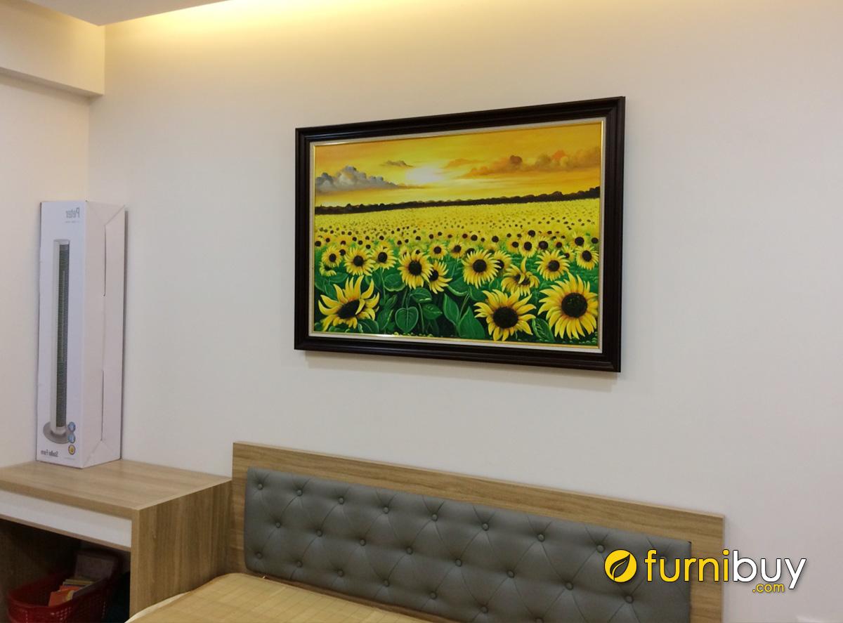 Hình ảnh Bức tranh treo tường hoa hướng dương cho phòng ngủ đẹp
