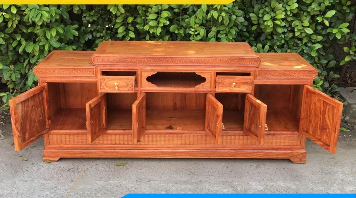 Các lưu ý khi mua kệ tivi gỗ Hương