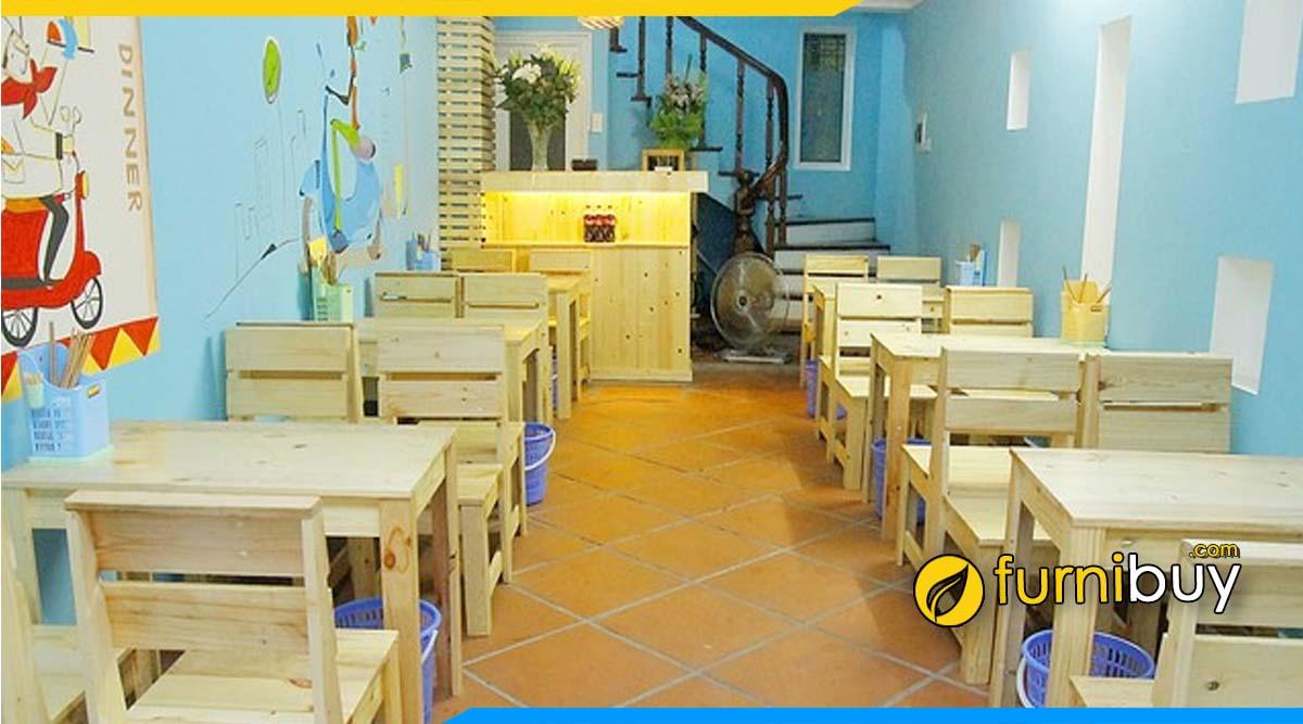Tư vấn chọn bàn ghế cho quán ăn vặt ở Hà Nội