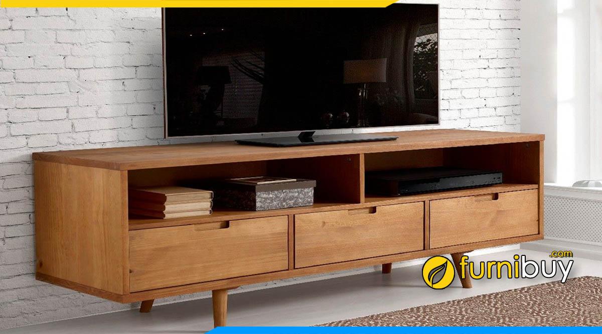 Mẫu kệ tivi gỗ sồi Mỹ đóng theo yêu cầu