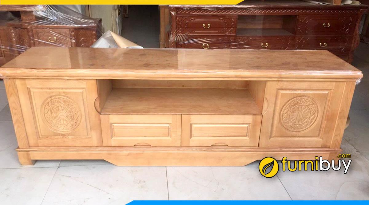 Hình ảnh Kệ tivi gỗ sồi trắng đẹp giá rẻ kích thước 2m
