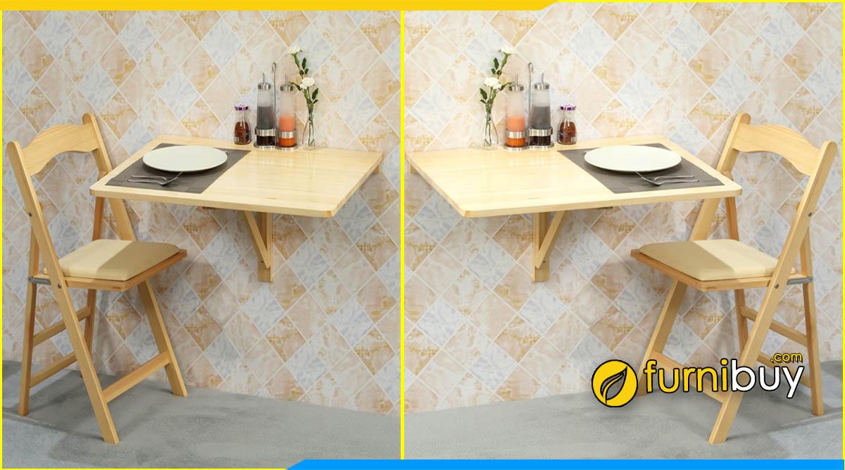 Dòng bàn ăn gắn tường thông minh nhỏ gọn 2 ghế