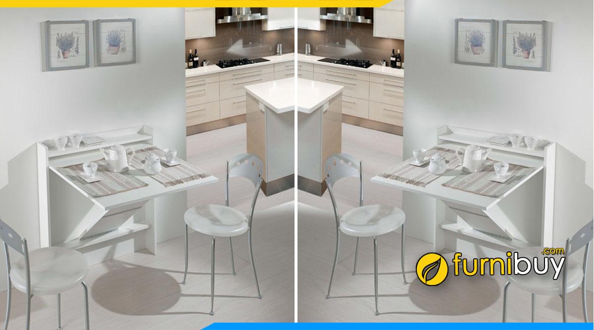 Kiểu bàn ăn treo tường gấp gọn thông minh, hiện đại
