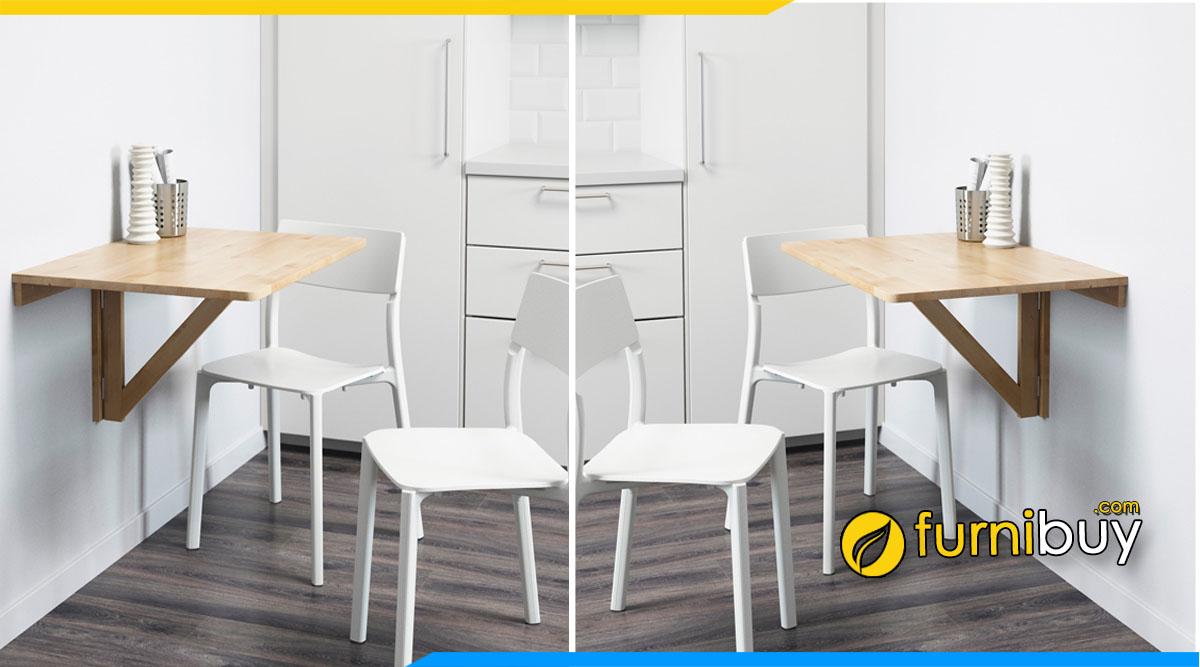 Hình ảnh bàn ghế ăn gắn tường cho chung cư nhỏ mini