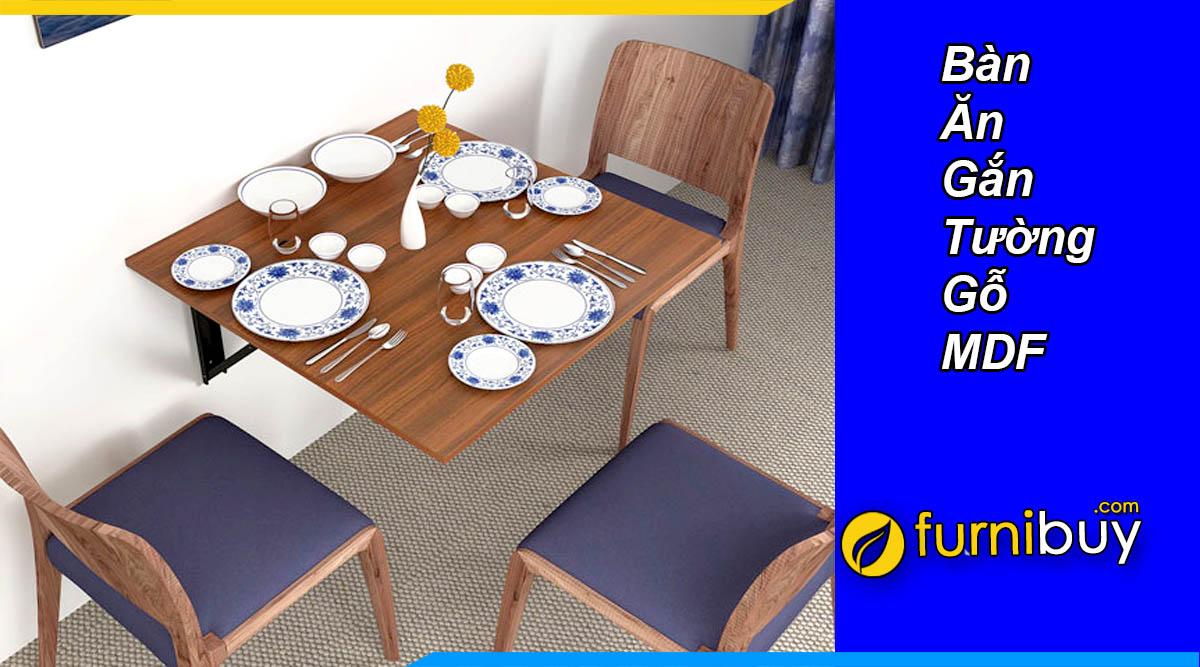 bàn ăn gắn tường đơn giản gỗ MDF giá rẻ Hà Nội