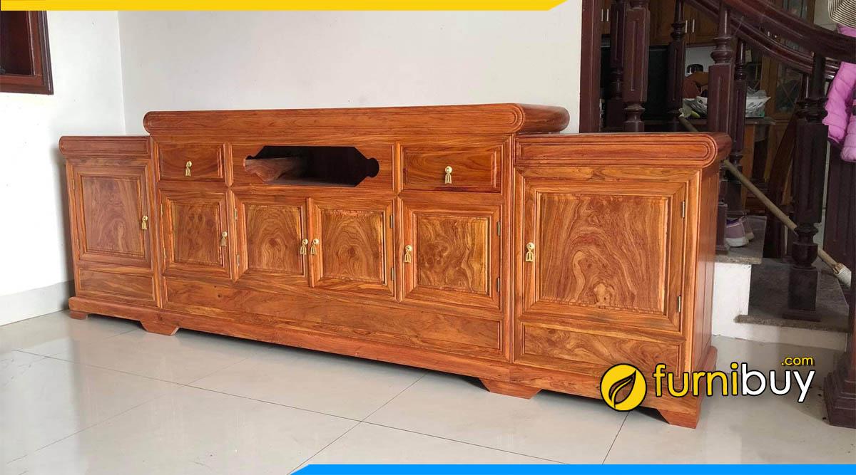 Mẫu kệ tivi gỗ tự nhiên gỗ hương đá cao cấp