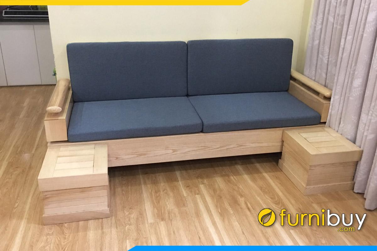 sofa go dang vang mini nho xinh 2 cho ngoi