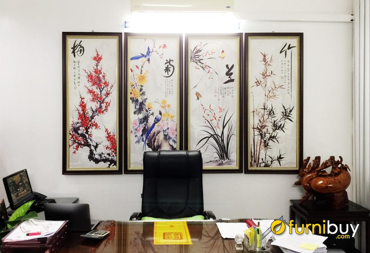 Hình ảnh Tranh bộ tứ quý treo tường phòng làm việc