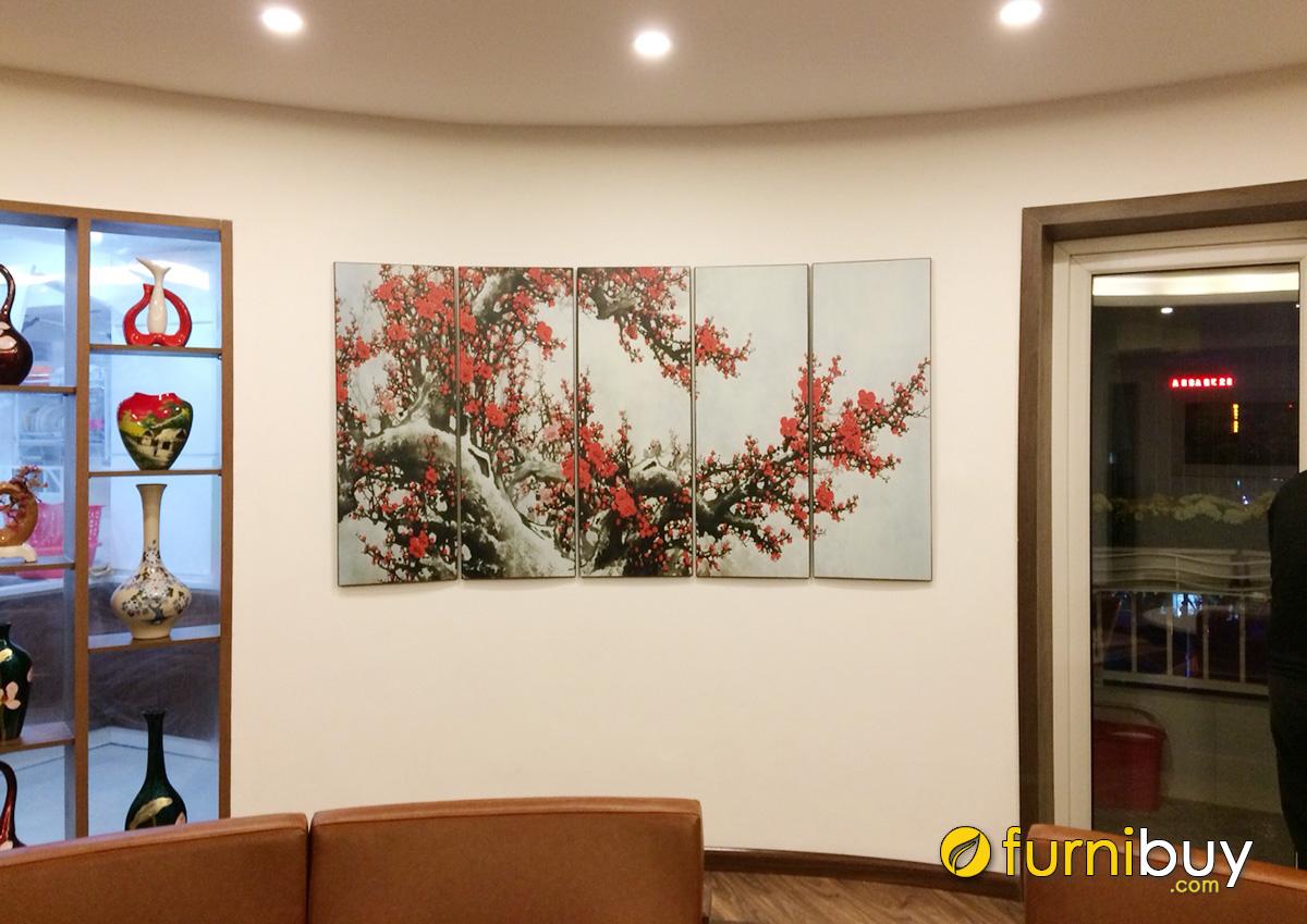 Hình ảnh Tranh hoa đào tặng Tết đẹp và ý nghĩa