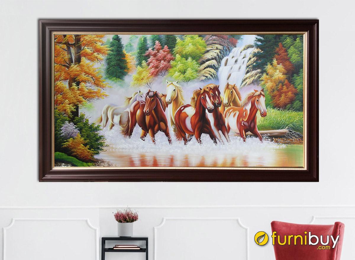 Hình ảnh Trang mã đáo vẽ sơn dầu đẹp treo tường sang trọng