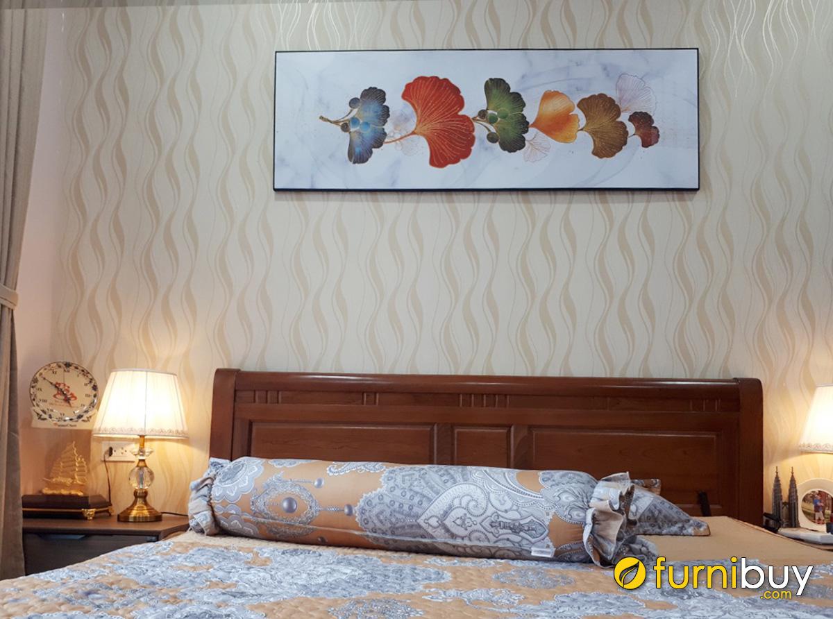 Hình ảnh Tranh ngang treo phòng ngủ nhà khách hàng đẹp sang trọng