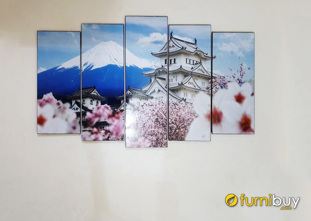 Hình ảnh Tranh phong cảnh Nhật Bản đẹp treo tường