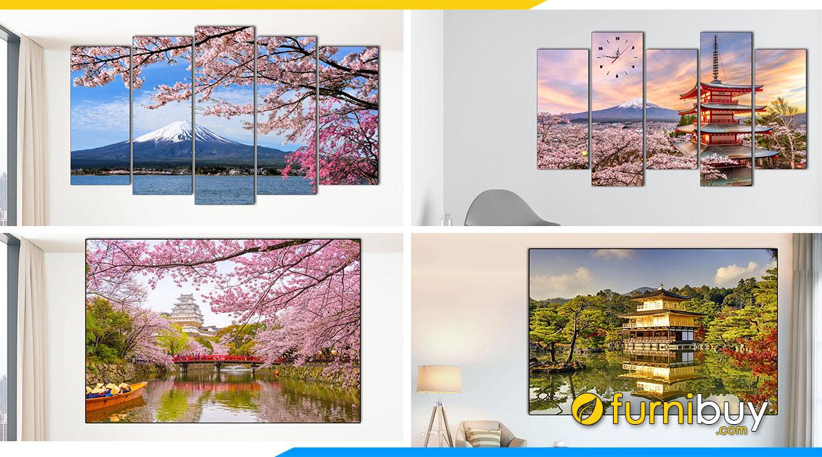 Hình ảnh Tranh Phong Cảnh Nhật Bản Treo Tường Đẹp Nổi Tiếng Nhất!!!