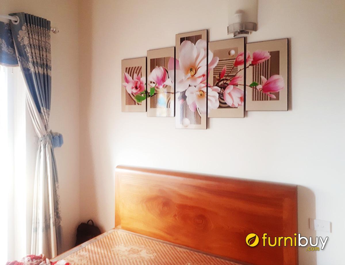 Hình ảnh Tranh phòng ngủ đẹp bông hoa mộc lan quyến rũ