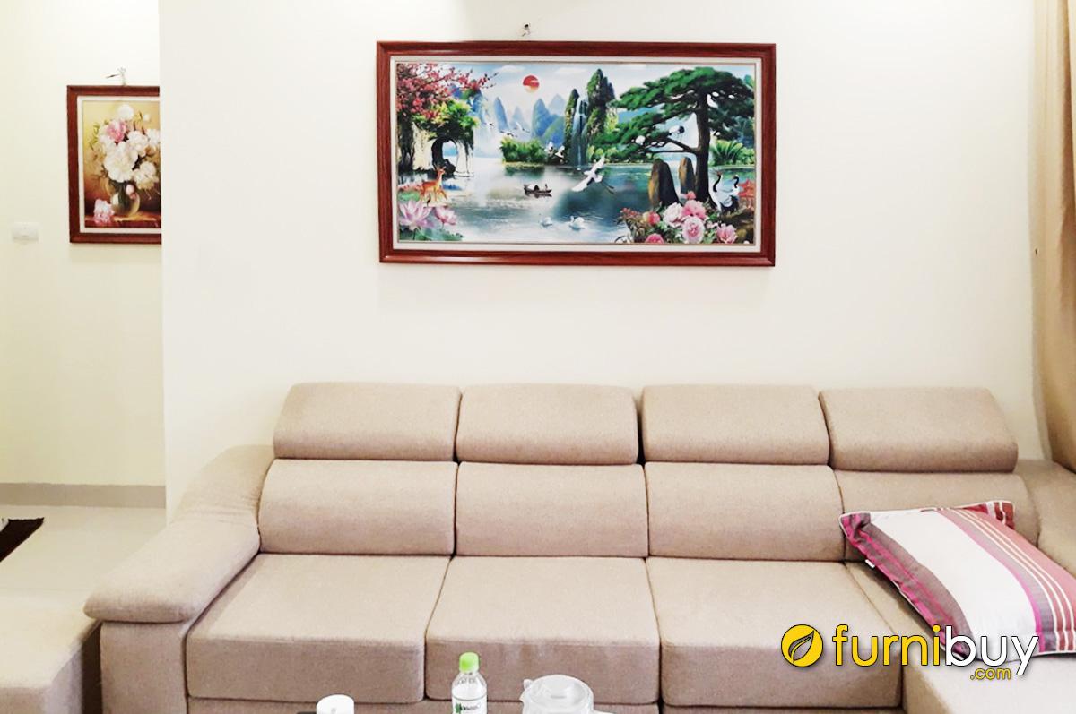 Hình ảnh Tranh sơn thủy hữu tình treo phòng khách nhà chung cư