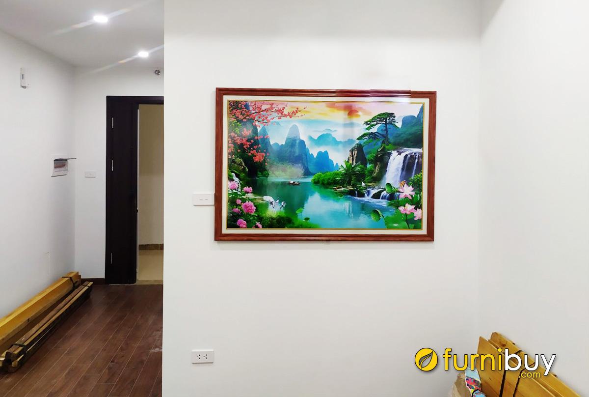 Hình ảnh Tranh sơn thủy hữu tình treo tường phòng khách đẹp