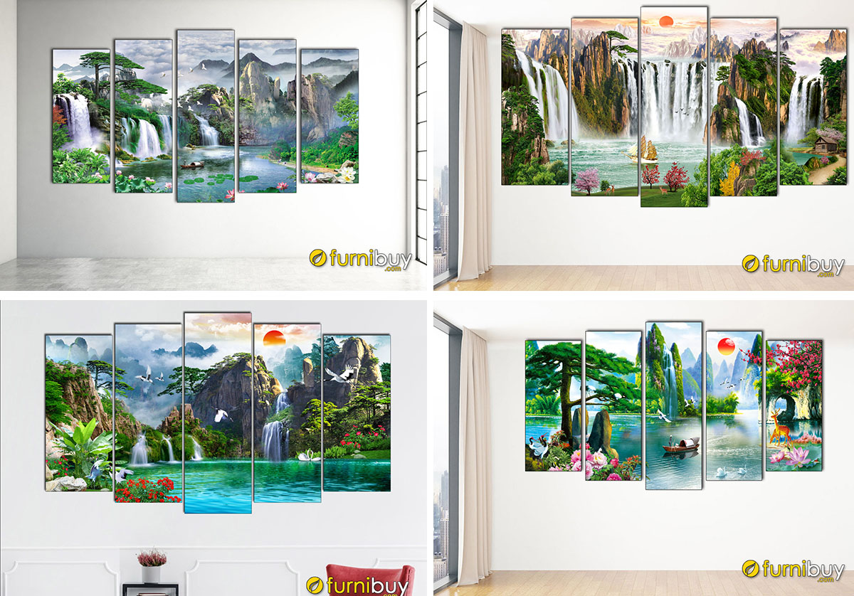 Hình ảnh Tranh sơn thủy treo tường dưới 2 triệu đẹp ý nghĩa