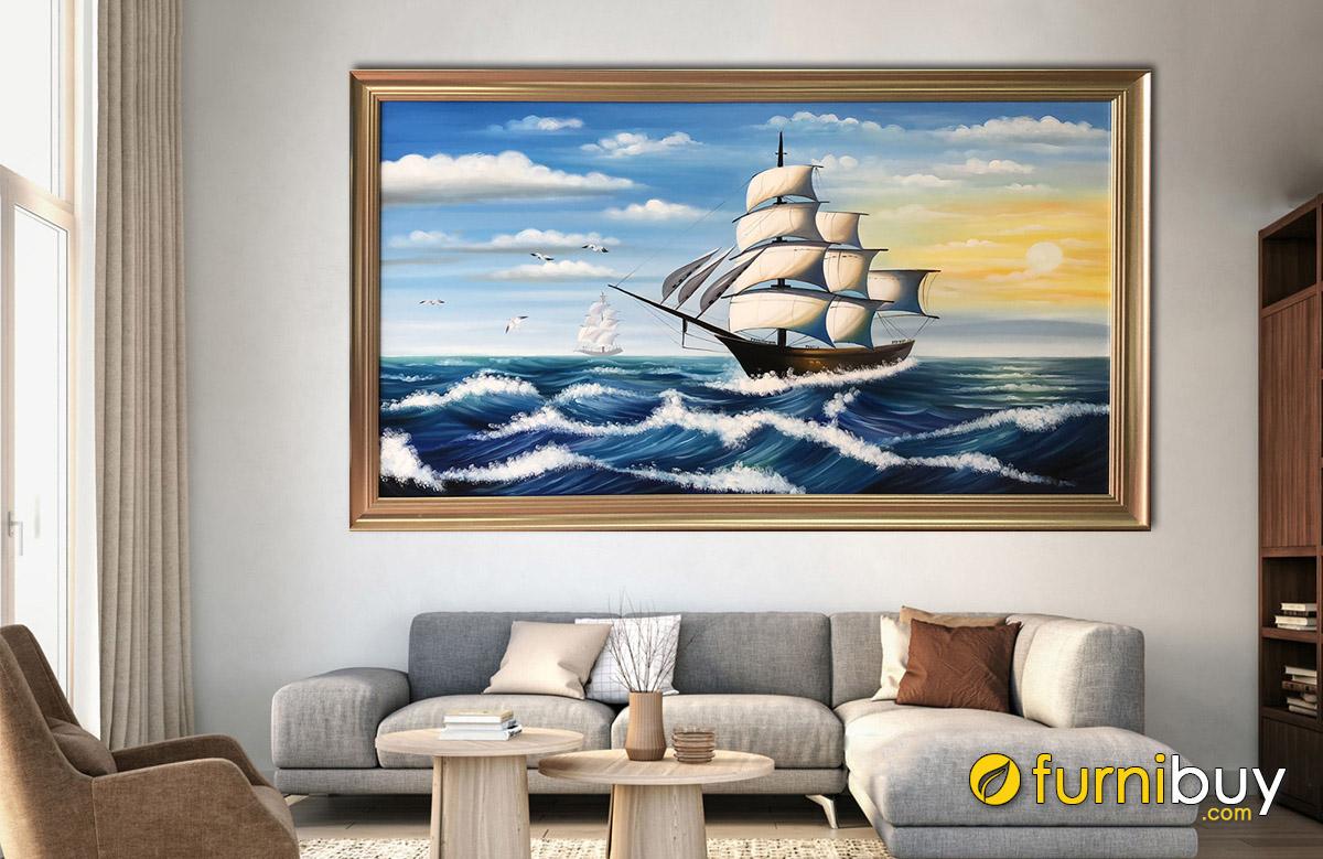 Hình ảnh Tranh thuận buồm xuôi gió đẹp nhất treo tường