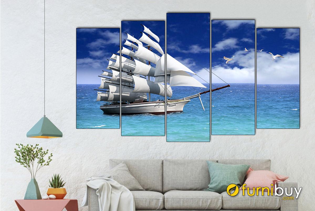 Hình ảnh Tranh thuận buồm xuôi gió treo tường