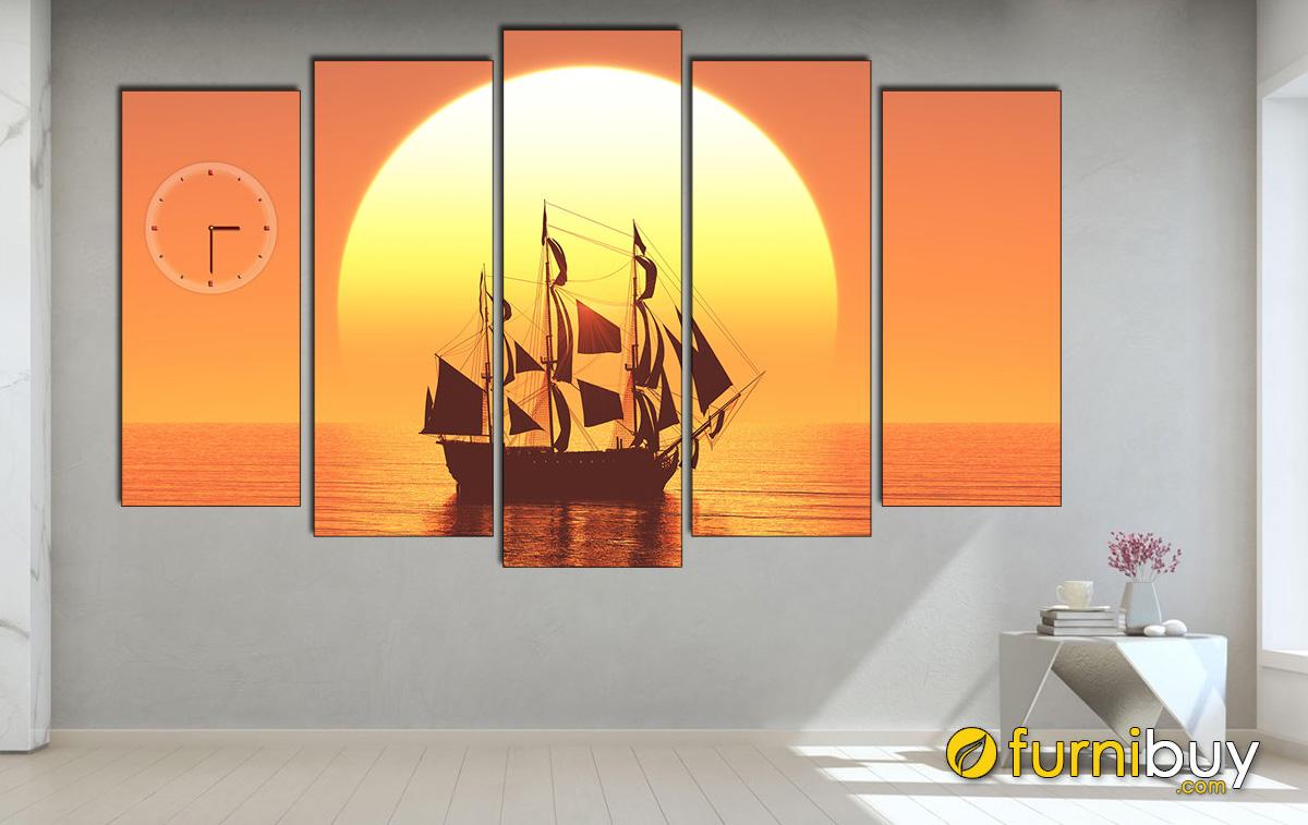 Hình ảnh Tranh thuyền buồm treo tường đẹp