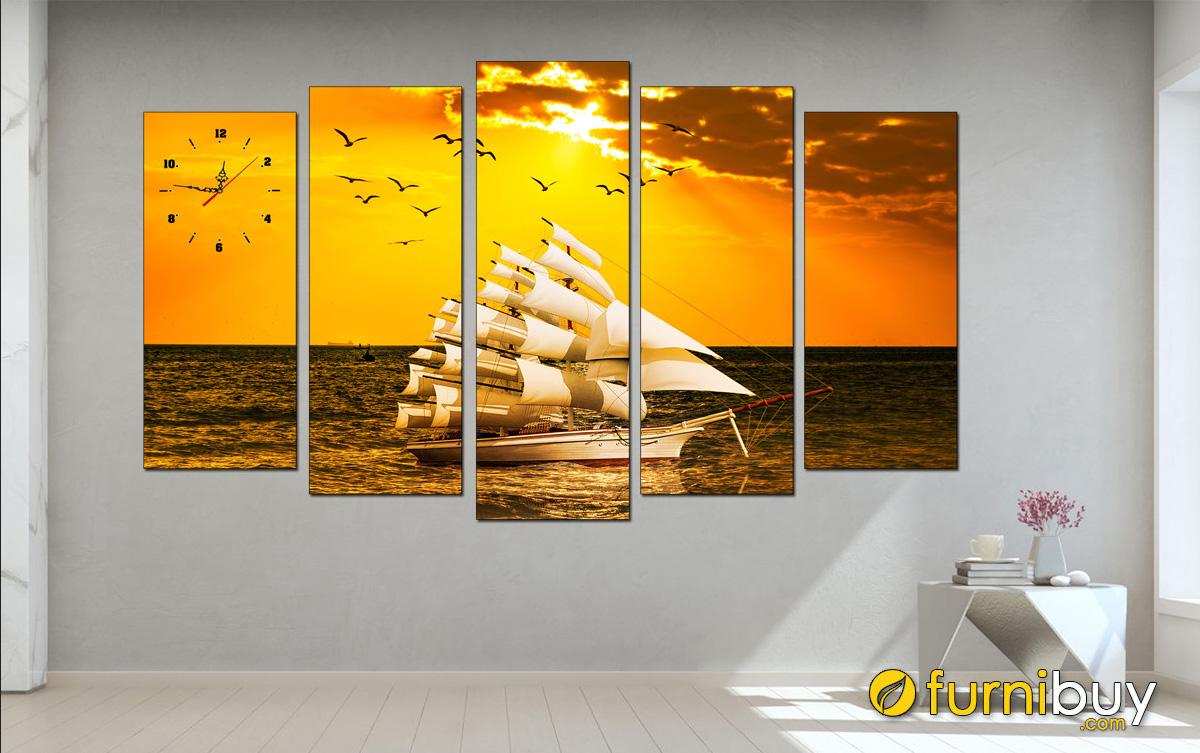 Hình ảnh Tranh thuận buồm xuôi gió đẹp treo tường