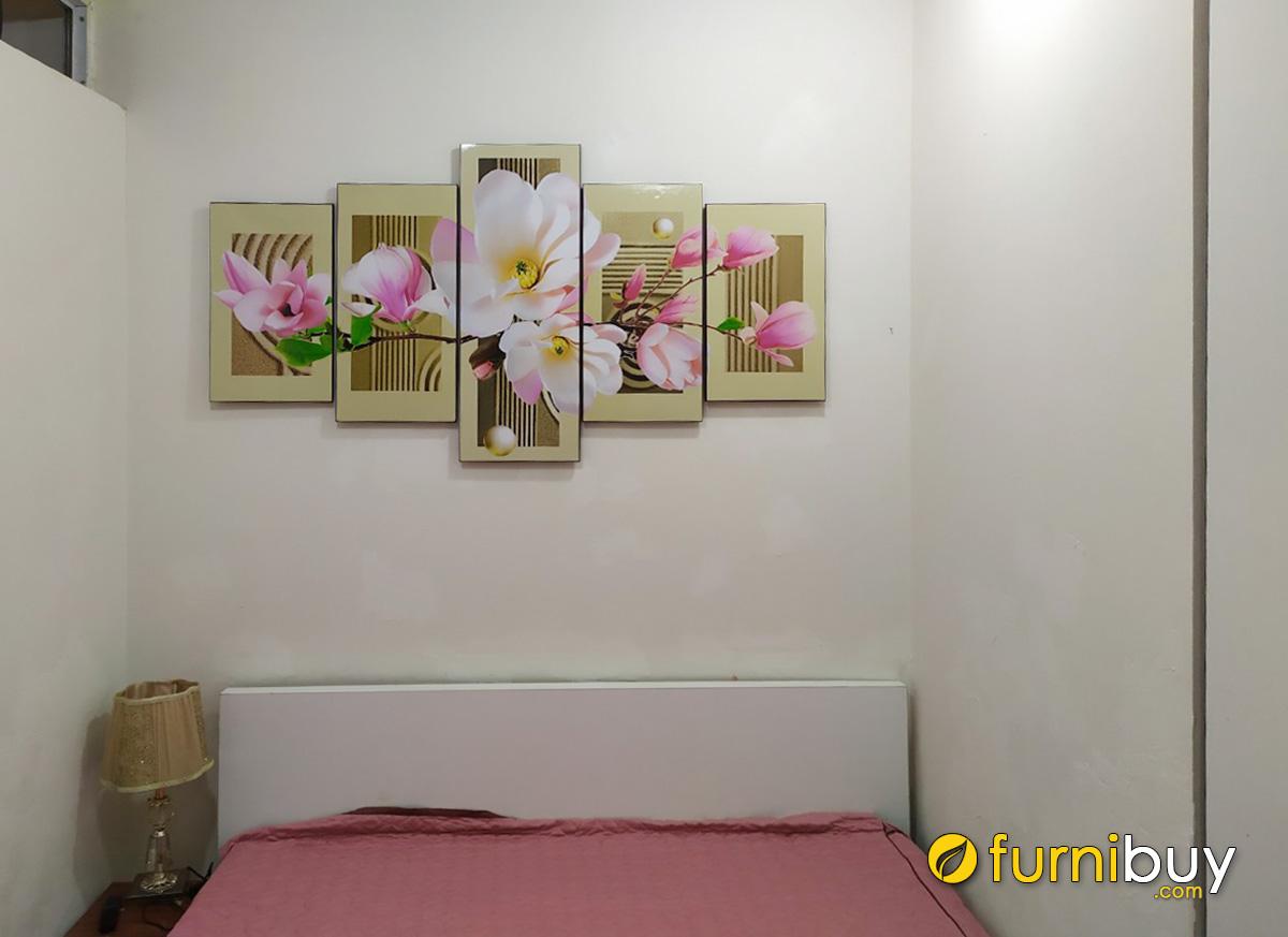 Hình ảnh Tranh trang trí phòng ngủ hoa mộc lan đẹp