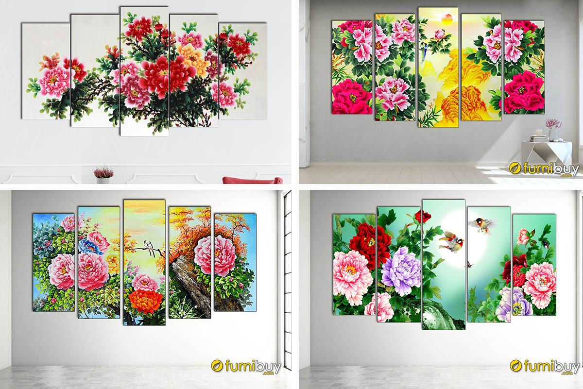 Hình ảnh Tranh treo tường hoa mẫu đơn giá bán dưới 2 triệu