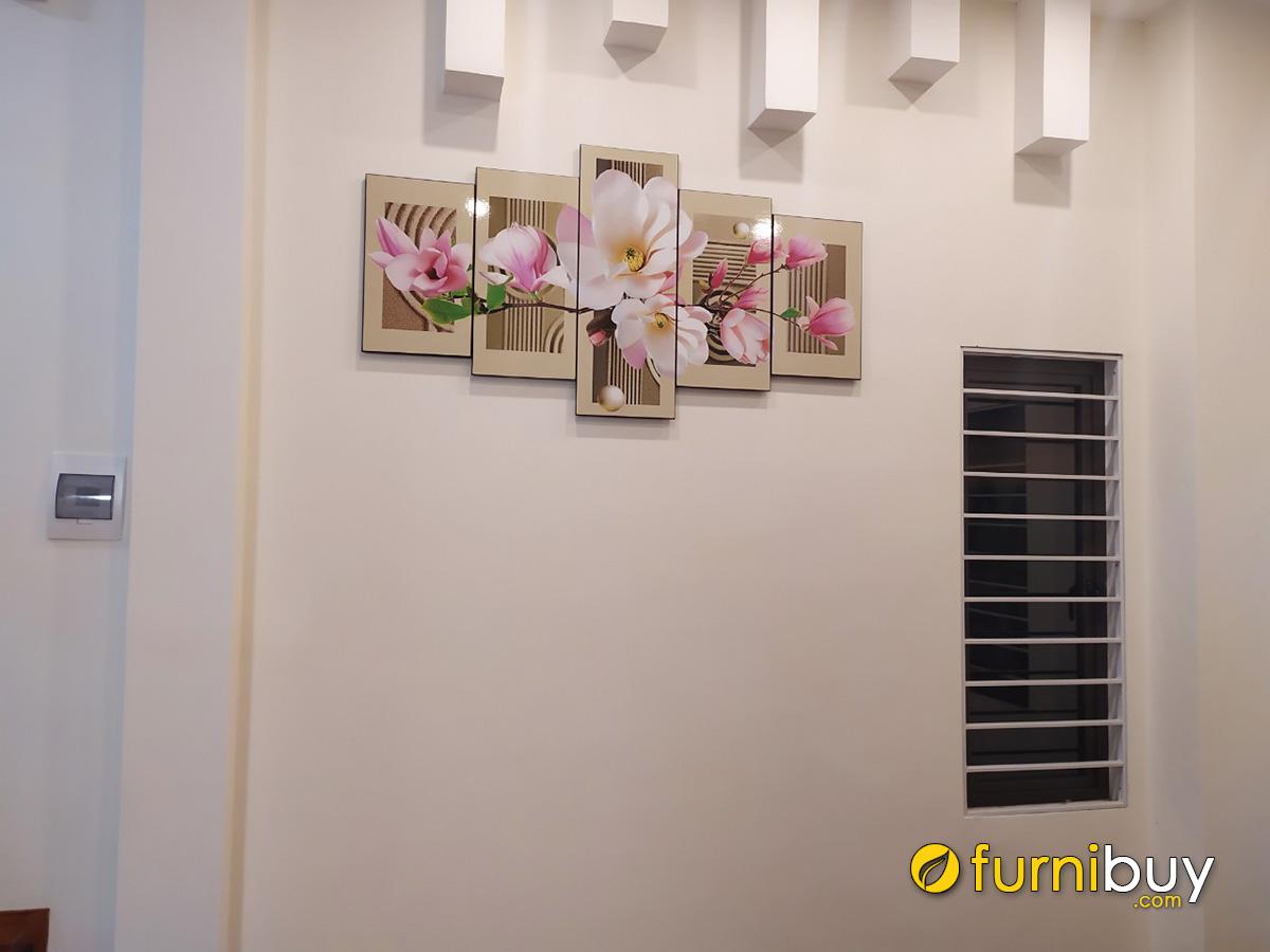 Hình ảnh Tranh treo tường hoa mộc lan đẹp sang trọng