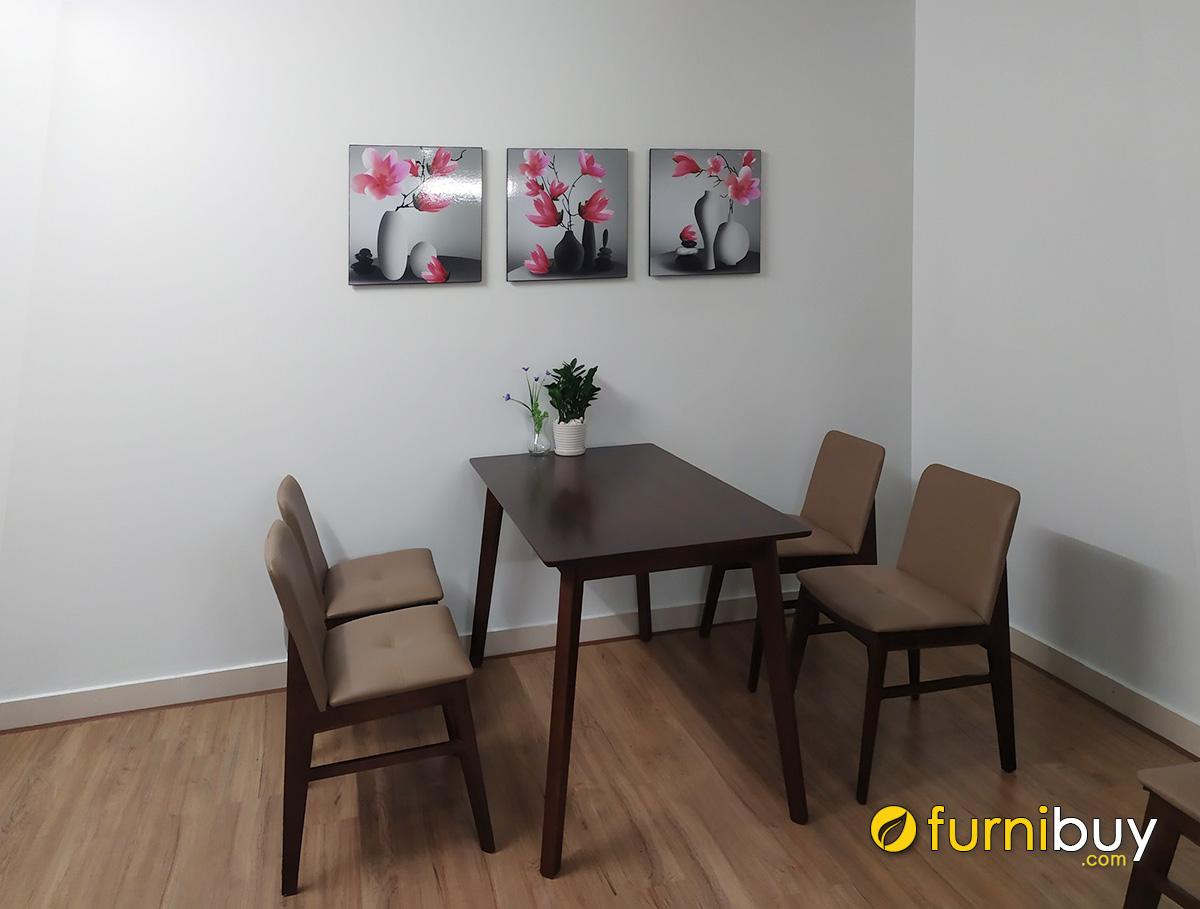 Hình ảnh Tranh treo tường hoa mộc lan trang trí khu vực bàn ăn đẹp