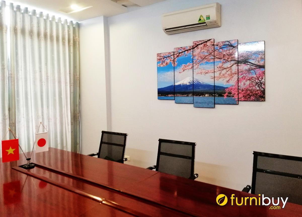 Hình ảnh Tranh treo tường Nhật Bản treo phòng làm việc đẹp