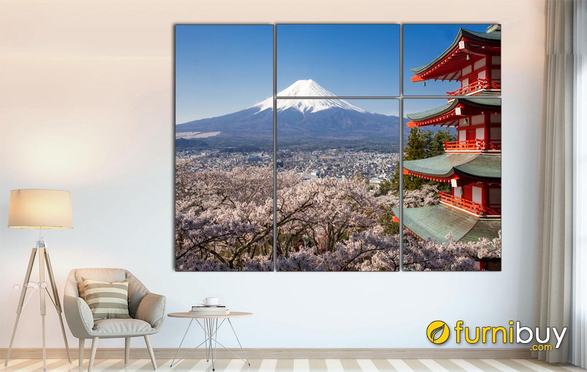 Hình ảnh Tranh treo tường phong cảnh Nhật Bản đẹp tuyệt vời
