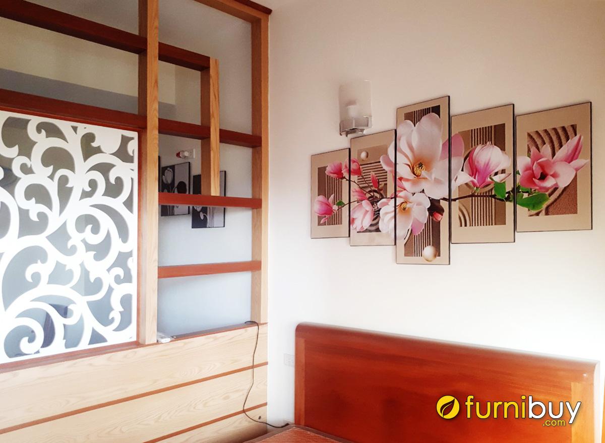 Hình ảnh Tranh treo tường phòng ngủ hoa mộc lan đẹp