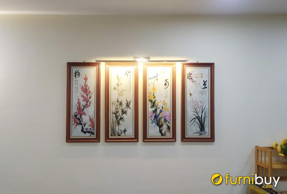 Hình ảnh Tranh treo tường tứ quý đẹp ý nghĩa phong thủy
