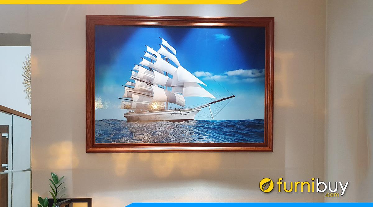 Hình ảnh Về Nhà Mới Treo Tranh Thuyền Buồm - Thuận Lợi Rước Tài Lộc!