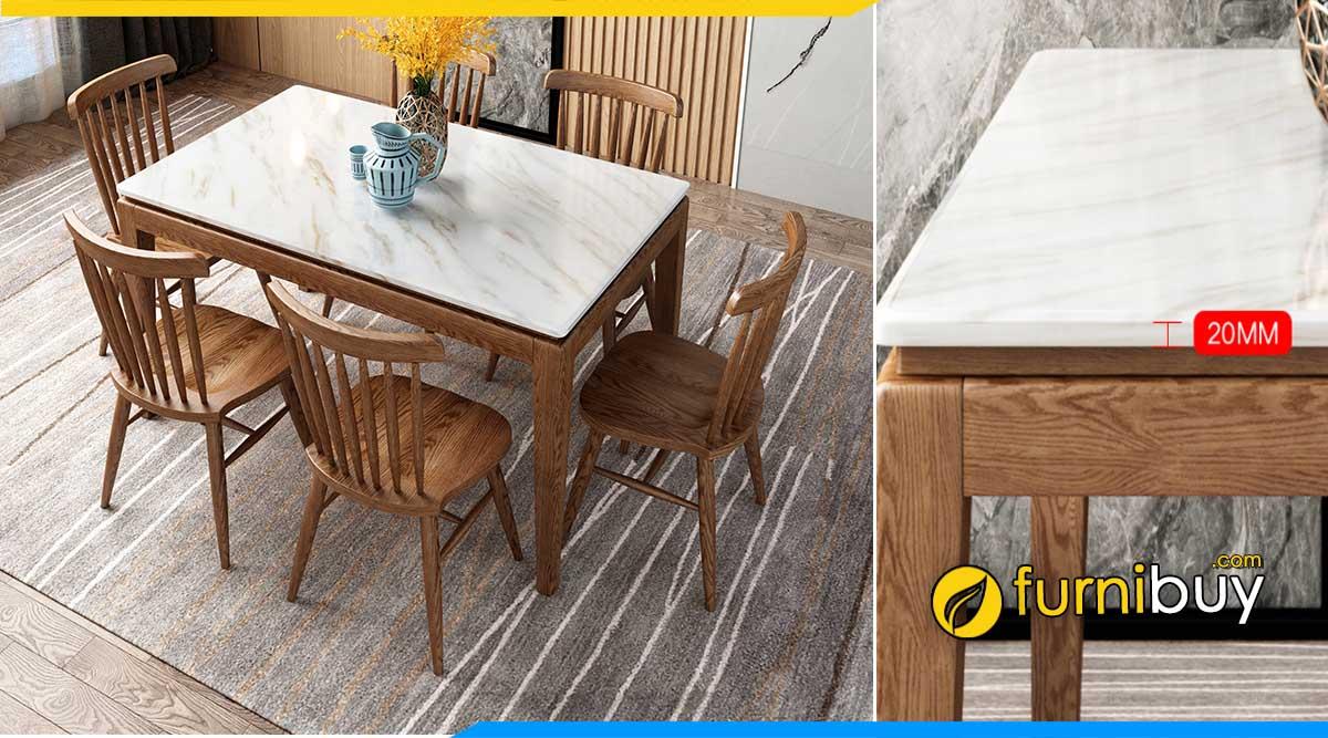 Bộ bàn ghế ăn marble hiện đại đẹp