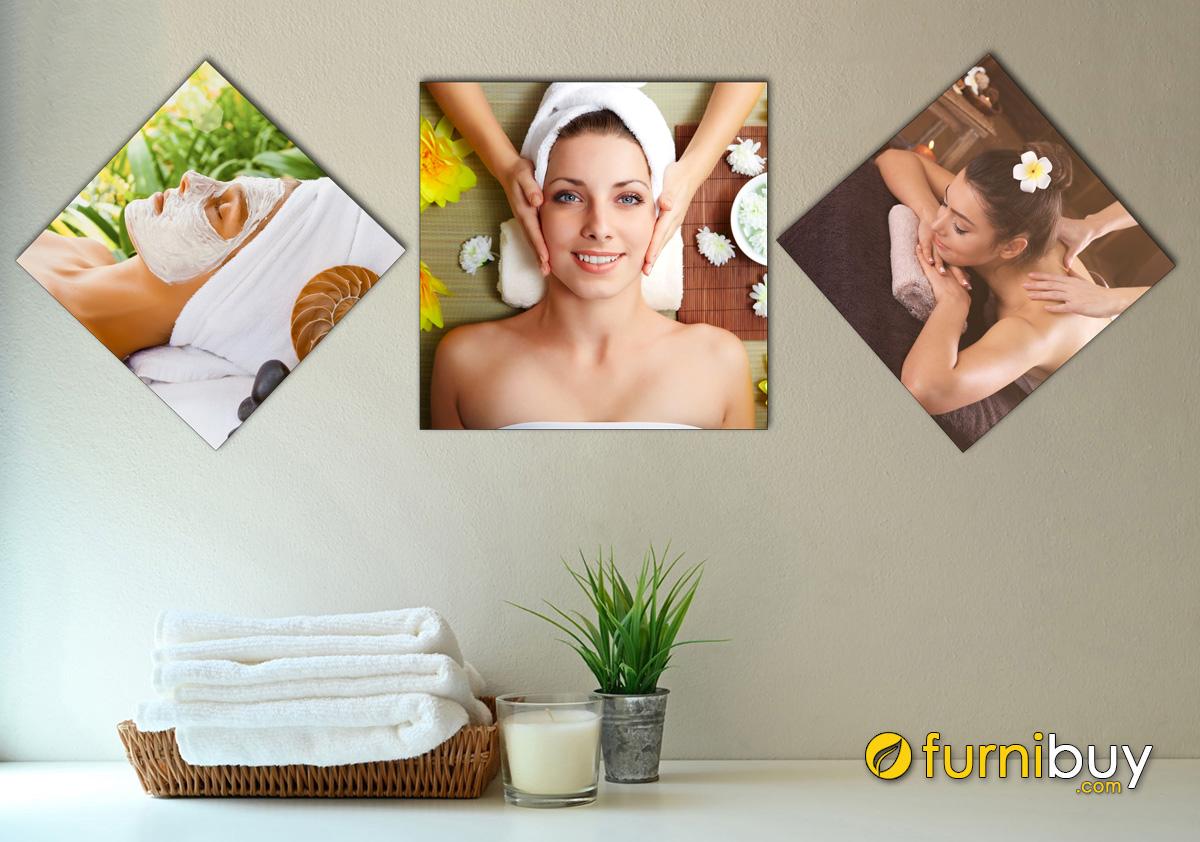 Hình ảnh Bộ tranh cô gái treo tường spa hiện đại đẹp