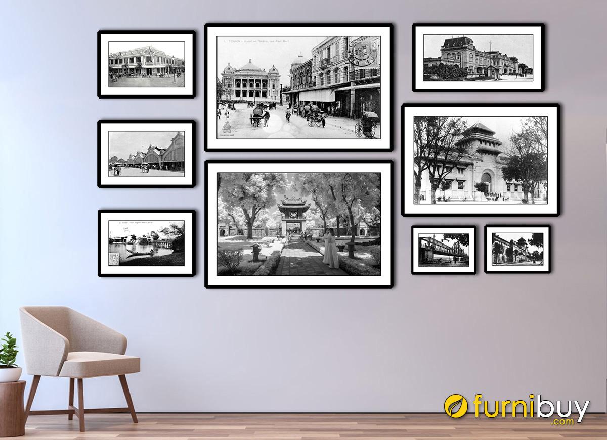 Hình ảnh Bộ tranh đen trắng về Hà Nội đẹp ấn tượng