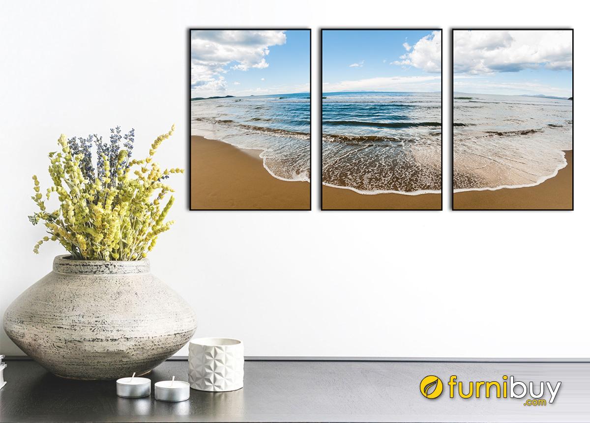 Hình ảnh Bộ tranh ghép 3 tấm đẹp hiện đại treo tường