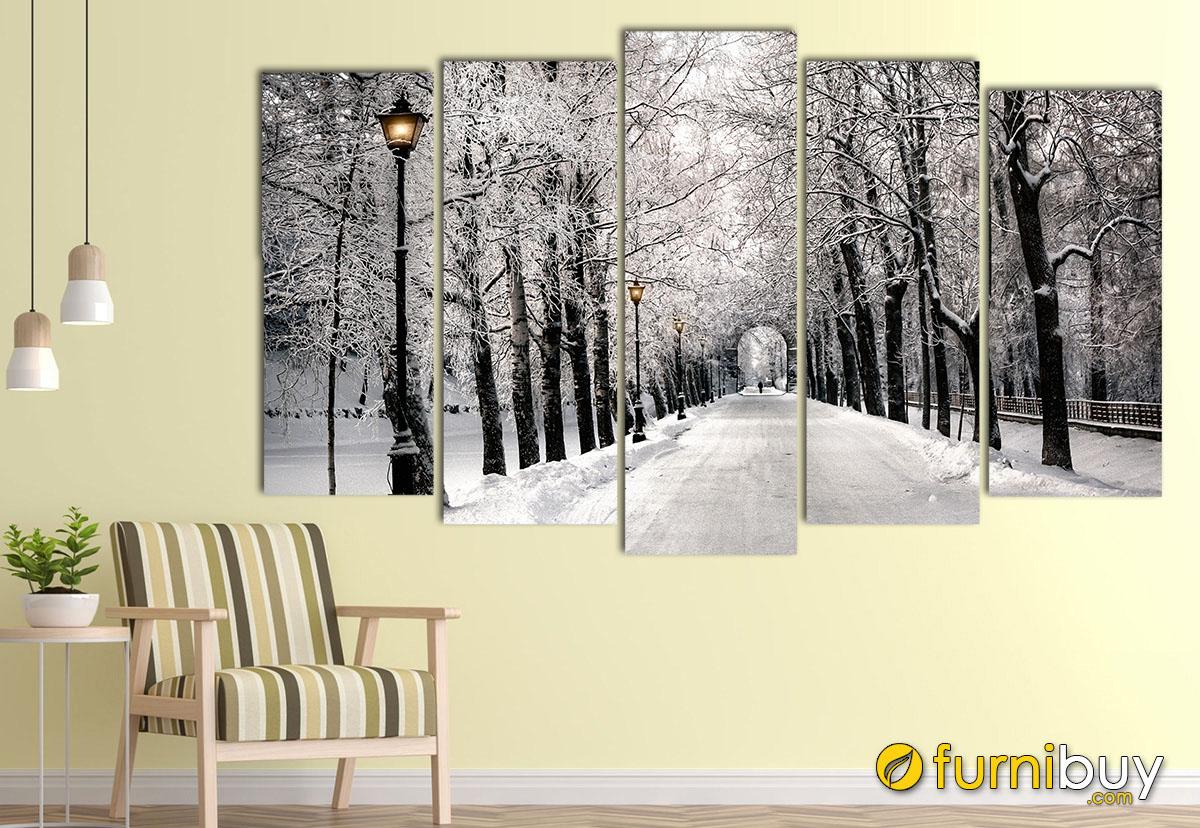 Hình ảnh Bộ tranh hàng cây đen trắng đẹp hiện đại