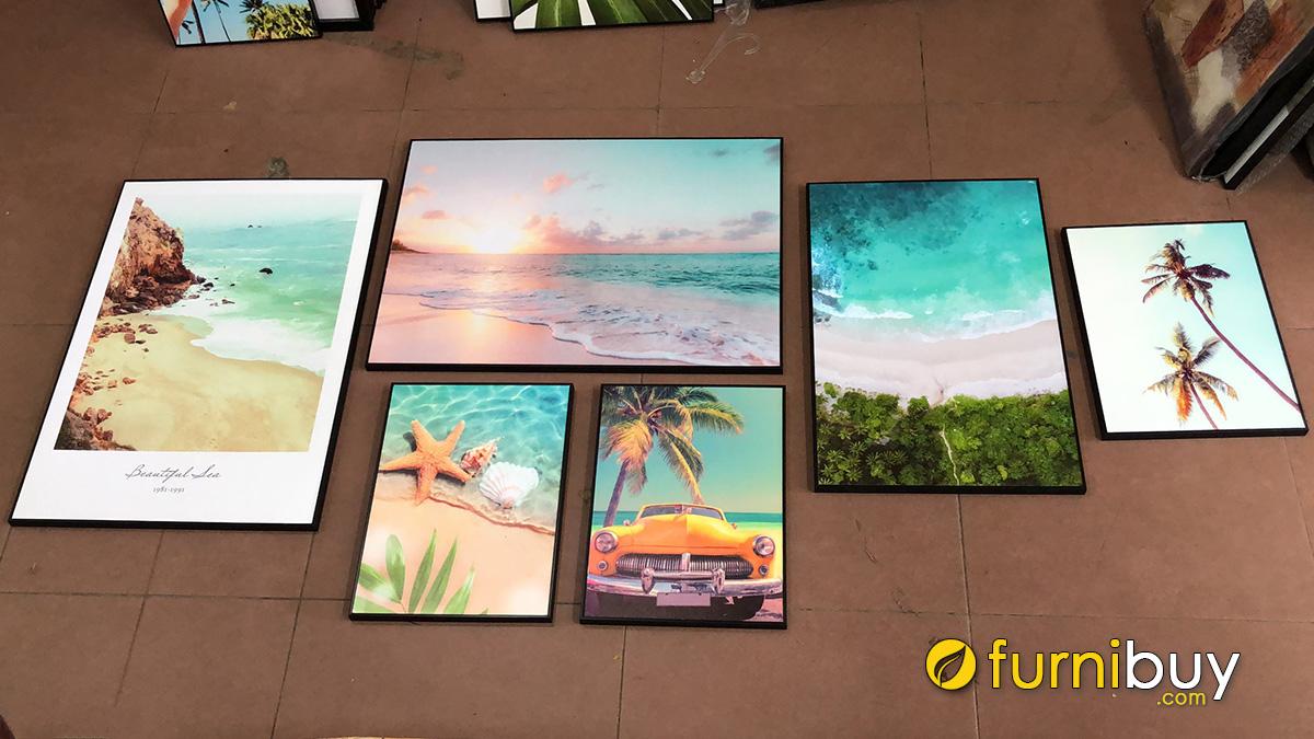 Hình ảnh Bộ tranh treo tường chủ đề biển cả