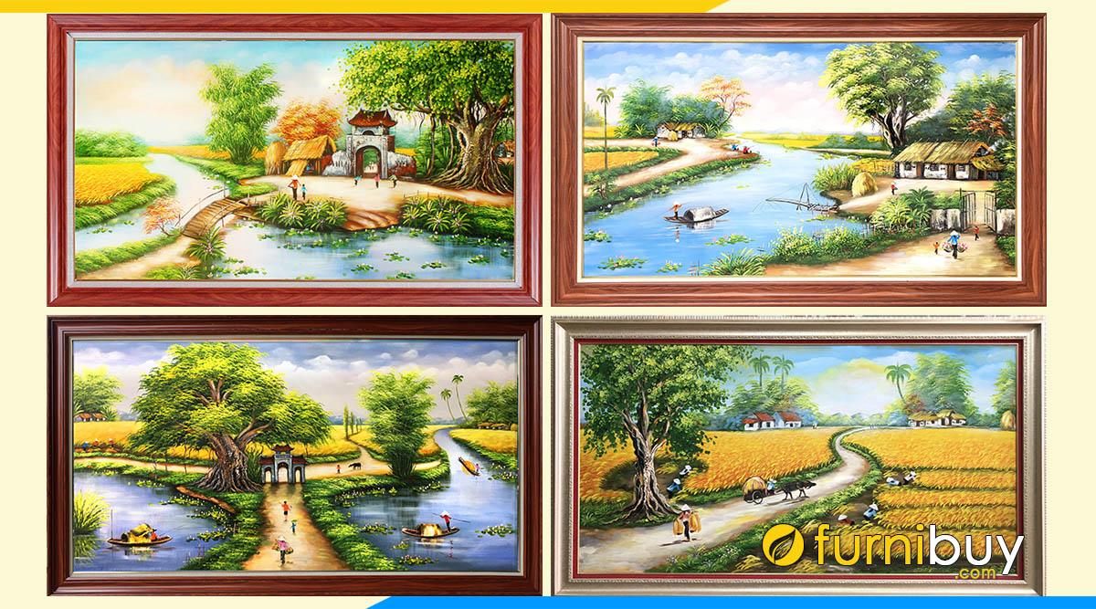 Hình ảnh 100++ Bức Tranh Phong Cảnh Làng Quê Đồng Quê Đẹp Triệu Like!!!