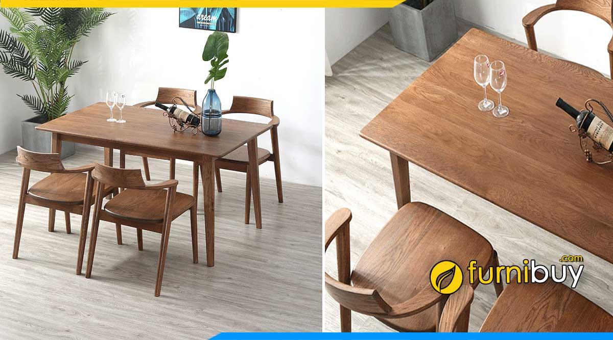 Chất liệu bàn ghế ăn bằng gỗ được ưa chuộng