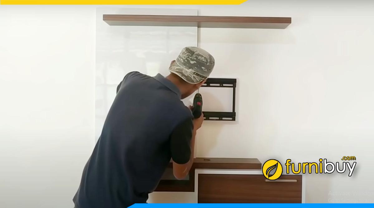 Đặt mua kệ tivi gắn tường Hà Nội tại các đơn vị thi công lắp đặt