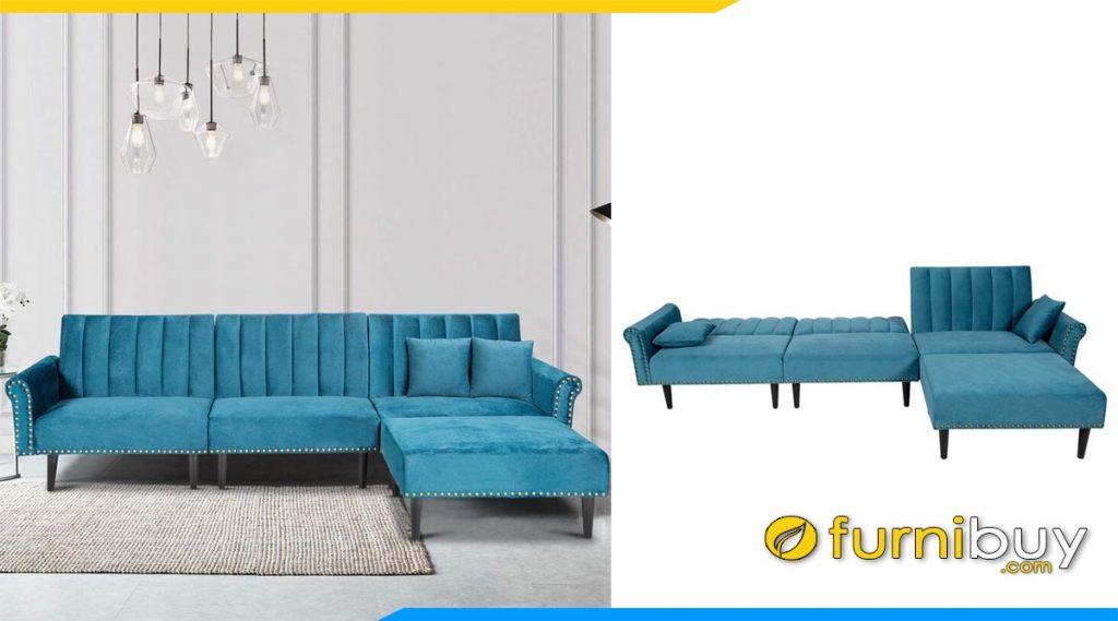 ghe sofa goc chu l mau xanh da troi