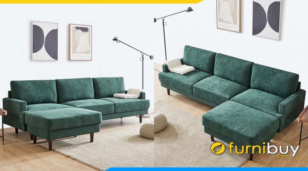 ghe sofa goc chu l mau xanh