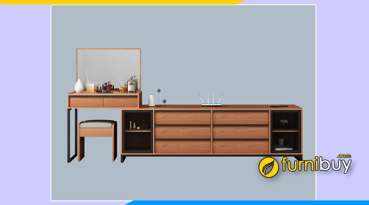 Hình ảnh Mẫu kệ tivi đơn giản hiện đại phòng ngủ và bàn trang điểm