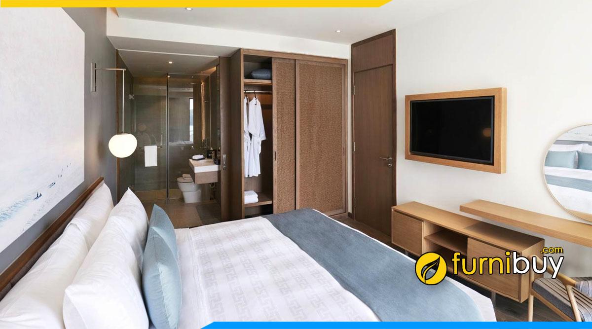 Kích thước kệ tivi đẹp phòng ngủ nhỏ