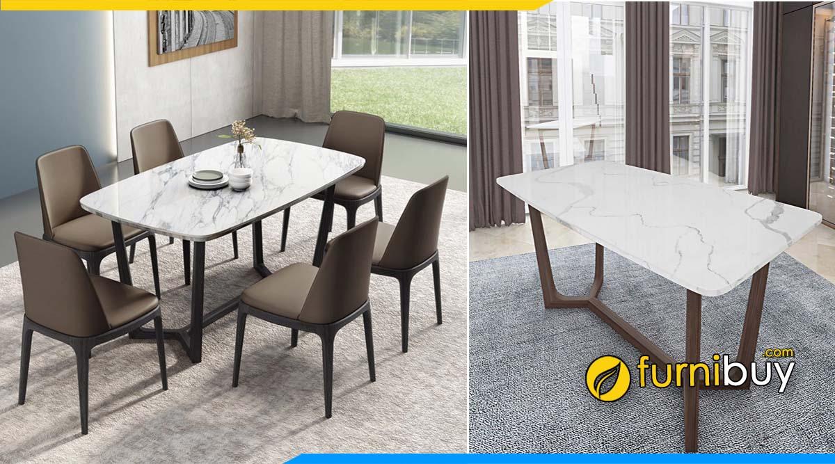 Hình ảnh Mẫu bàn ghế ăn mặt đá gốc thạch anh đẹp